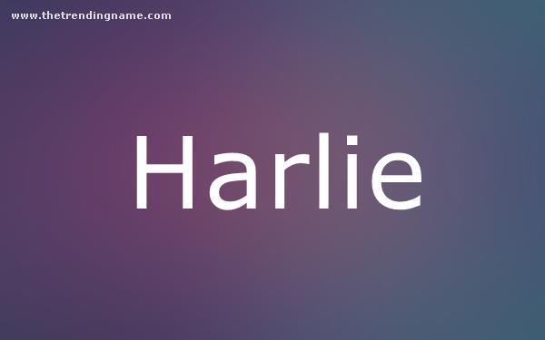 Baby Name Poster For Harlie