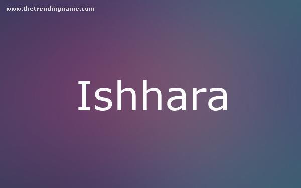 Baby Name Poster For Ishhara