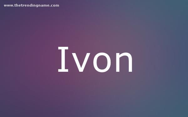 Baby Name Poster For Ivon