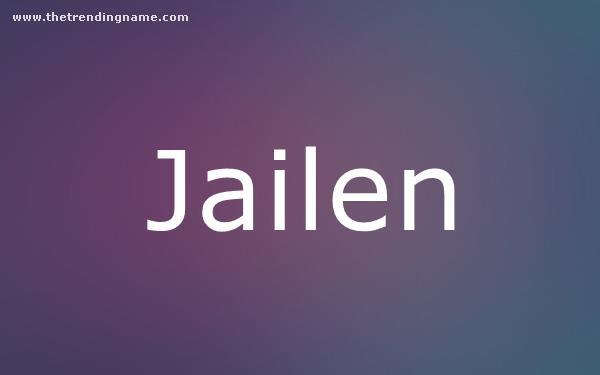 Baby Name Poster For Jailen