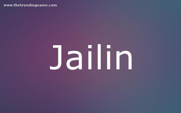 Baby Name Poster For Jailin