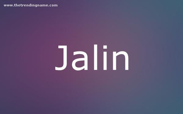 Baby Name Poster For Jalin
