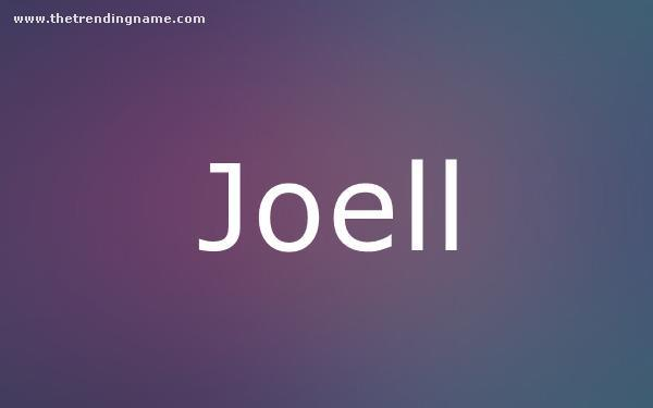 Baby Name Poster For Joell