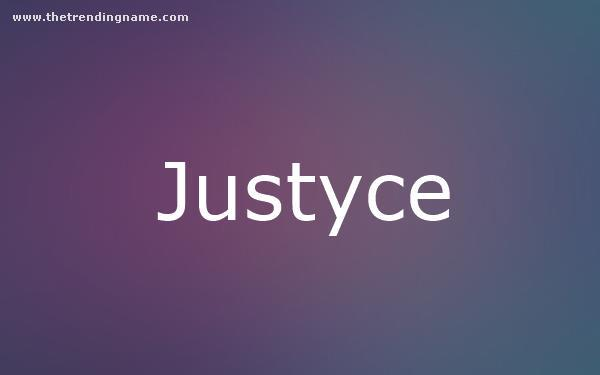 Baby Name Poster For Justyce