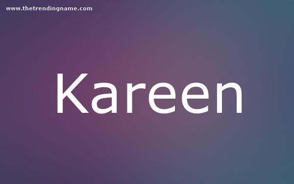 Baby Name Poster For Kareen