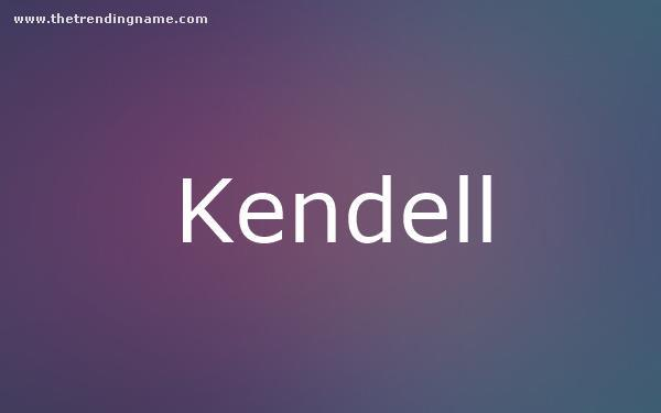 Baby Name Poster For Kendell