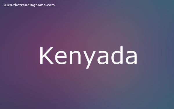 Baby Name Poster For Kenyada