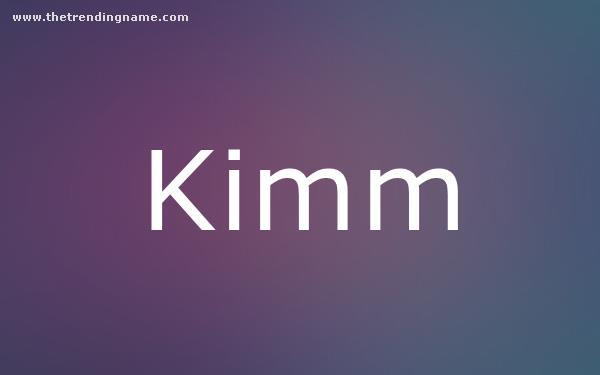 Baby Name Poster For Kimm