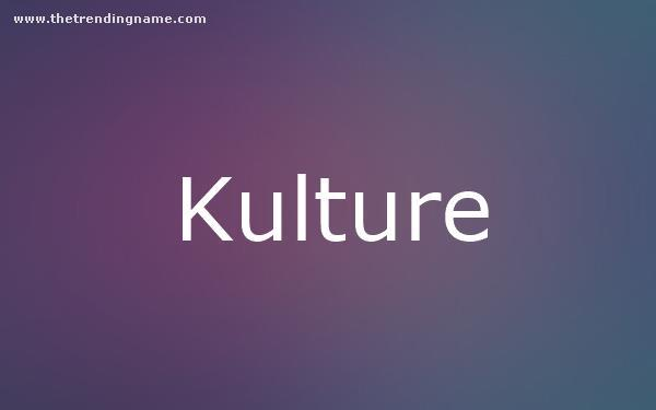 Baby Name Poster For Kulture