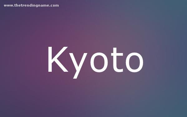 Baby Name Poster For Kyoto