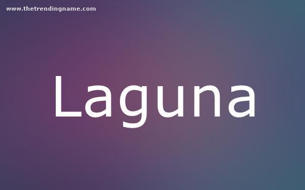 Baby Name Poster For Laguna