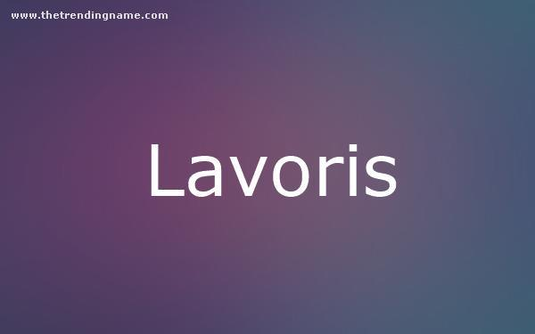 Baby Name Poster For Lavoris