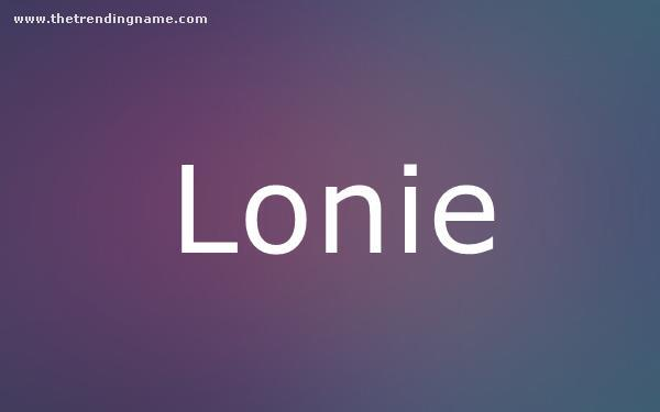 Baby Name Poster For Lonie