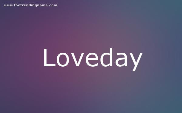 Baby Name Poster For Loveday