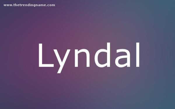 Baby Name Poster For Lyndal