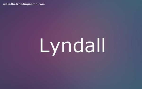 Baby Name Poster For Lyndall