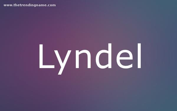 Baby Name Poster For Lyndel