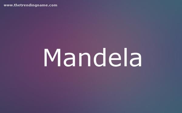 Baby Name Poster For Mandela