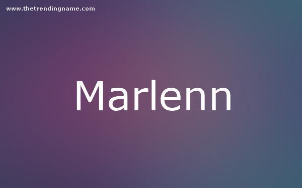 Baby Name Poster For Marlenn