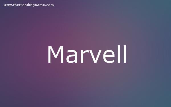 Baby Name Poster For Marvell