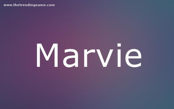 Baby Name Poster For Marvie
