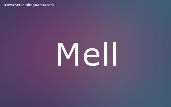 Baby Name Poster For Mell