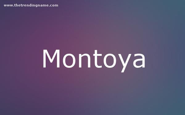 Baby Name Poster For Montoya