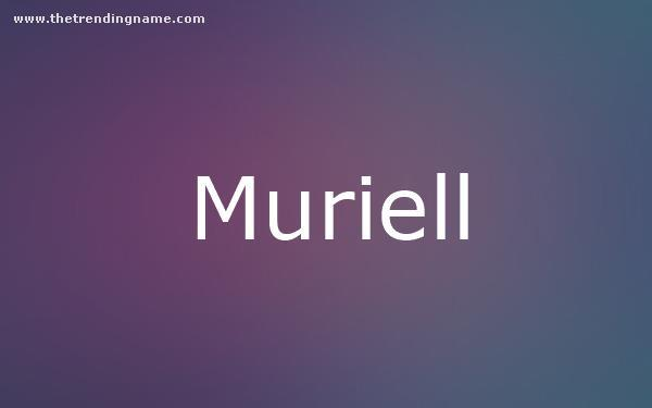 Baby Name Poster For Muriell