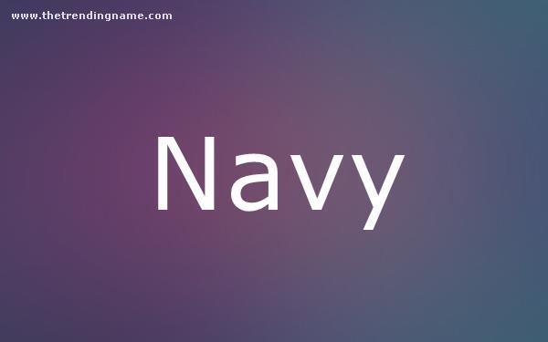 Baby Name Poster For Navy