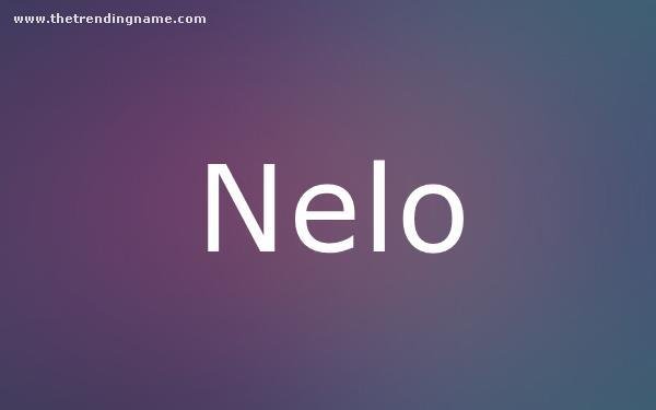 Baby Name Poster For Nelo