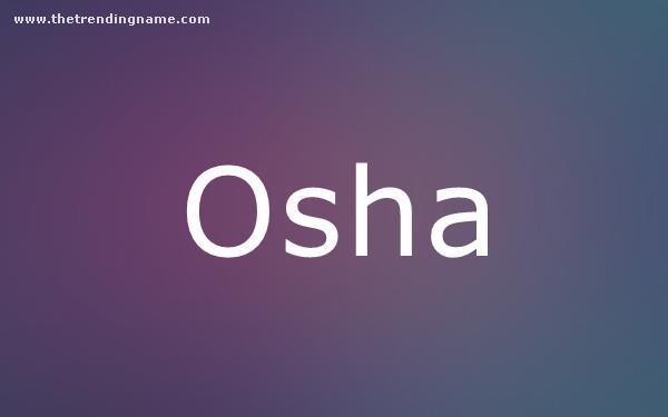 Baby Name Poster For Osha