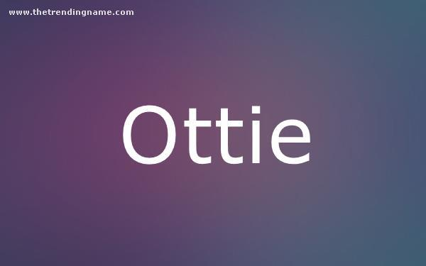 Baby Name Poster For Ottie