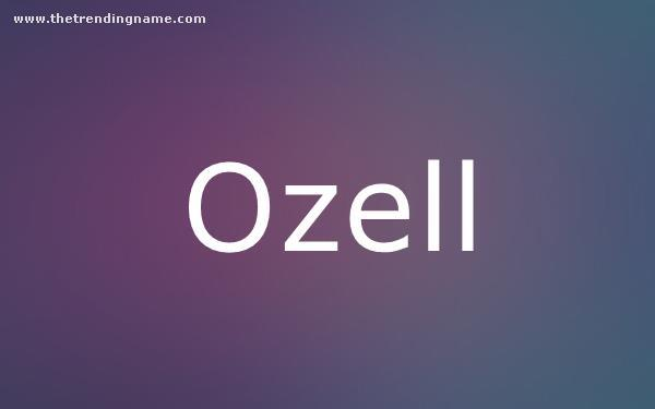 Baby Name Poster For Ozell