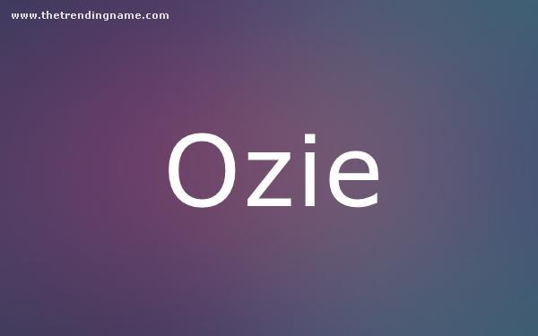 Baby Name Poster For Ozie