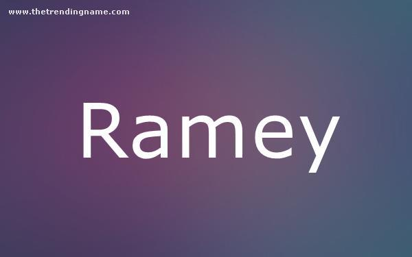 Baby Name Poster For Ramey