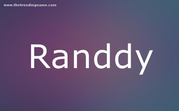 Baby Name Poster For Randdy