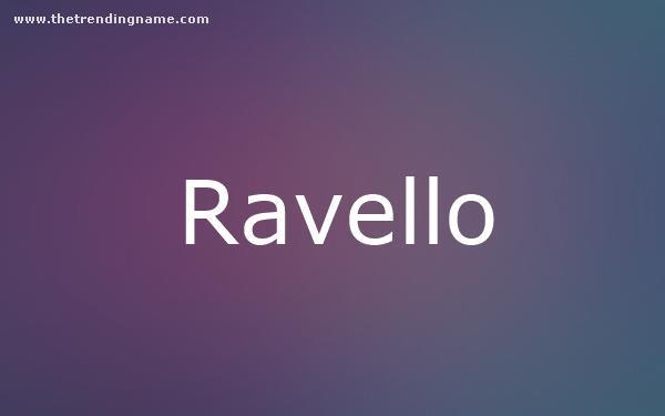Baby Name Poster For Ravello