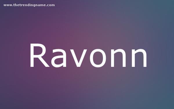 Baby Name Poster For Ravonn