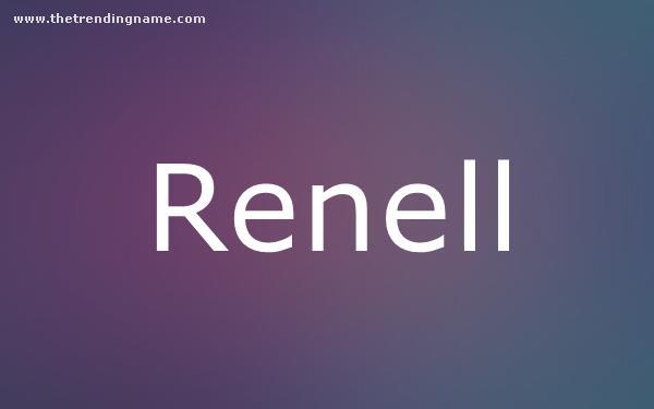 Baby Name Poster For Renell