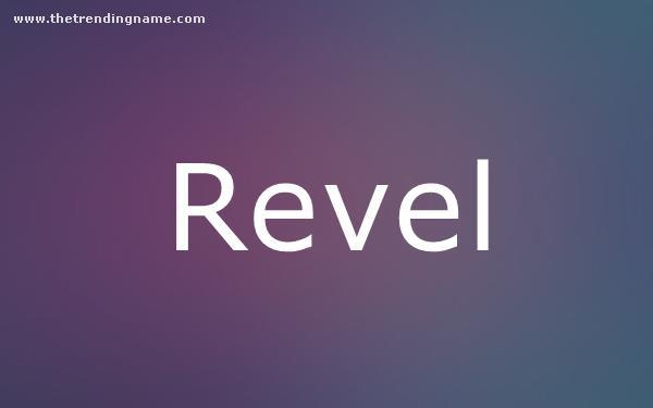 Baby Name Poster For Revel