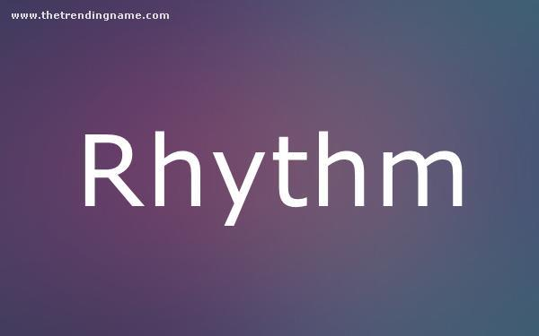 Baby Name Poster For Rhythm