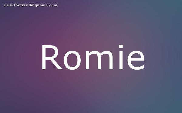 Baby Name Poster For Romie