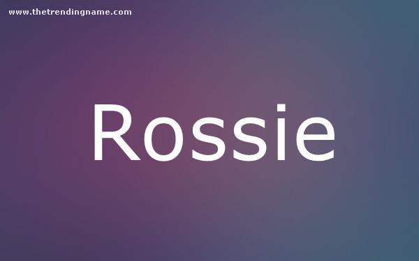 Baby Name Poster For Rossie