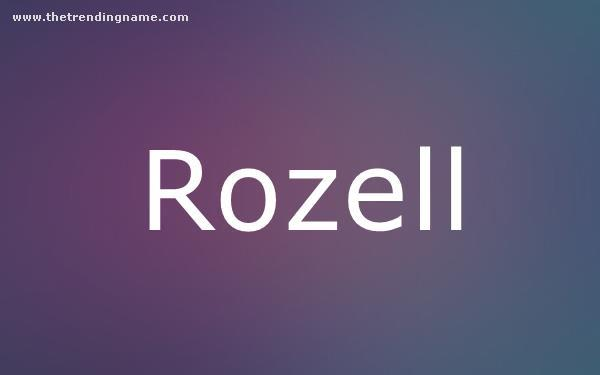 Baby Name Poster For Rozell
