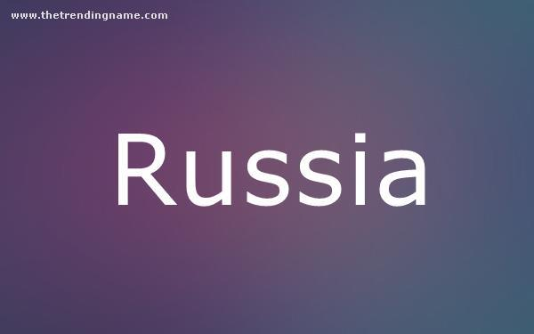 Baby Name Poster For Russia