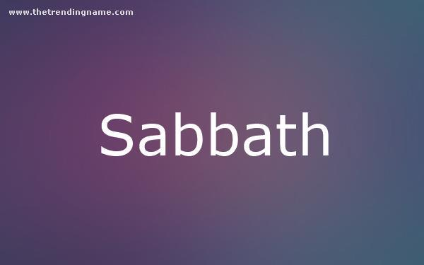 Baby Name Poster For Sabbath