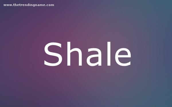 Baby Name Poster For Shale