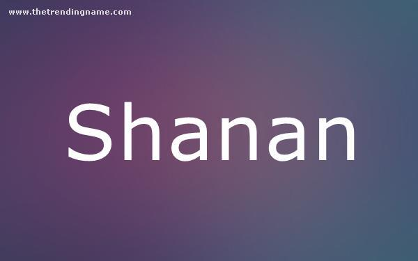 Baby Name Poster For Shanan
