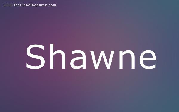 Baby Name Poster For Shawne