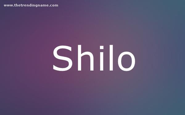 Baby Name Poster For Shilo